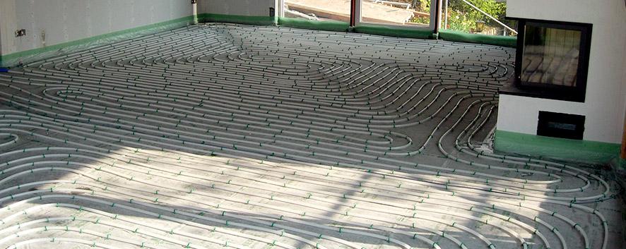Heizung, Fußbodenheizung